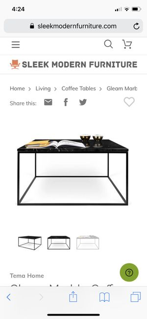 All black marble coffee accent table for Sale in Queen Creek, AZ