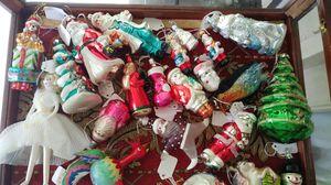 Christmas blown glass ornament lot, Santa, Marilyn, birds, $45 for Sale in Edgewood, WA