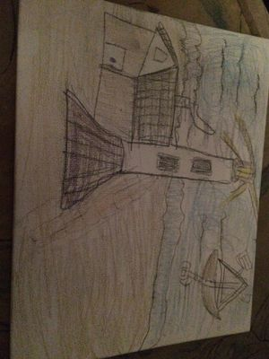 Hand draw of lighthouse for Sale in Delaware Bay, US