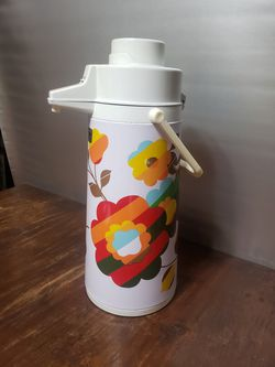 Groovy vintage flower vacuum pump thermos for Sale in Orlando,  FL