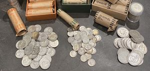 Pre 1965 U.S. SILVER COINS. 90% Real Silver. for Sale in Los Angeles, CA