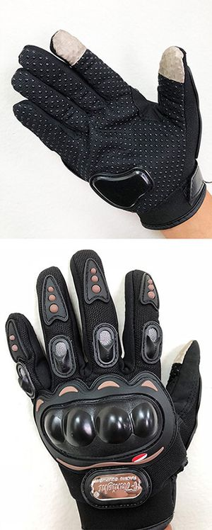 (New in box) $10 per pair Motorcycle Screen Touch Anti Slide Full Finger Gloves 3 Sizes (M, XL) for Sale in Whittier, CA