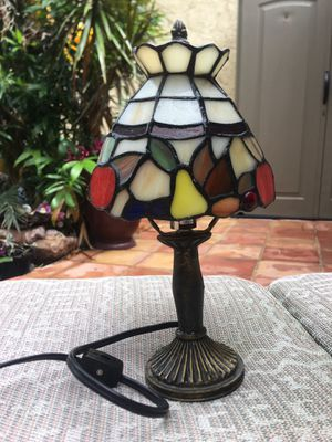 Multicolored REAL (not plastic) stained glass lamp... nightlight for Sale in Boca Raton, FL