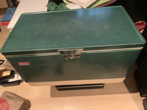 Vintage Metal Coleman Cooler for Sale in Aurora, CO