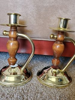 Wooden Brass Candle Holders for Sale in Phoenix,  AZ
