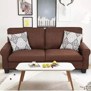 Home Living Room Upholstered Curved Armrest Fabric Sofa Sofas Furniture for Sale in Hacienda Heights, CA