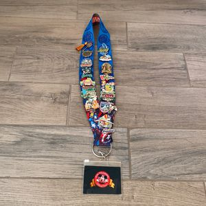 Disney Marvel Lanyard With Disney Park And Disney World Pins for Sale in Long Beach, CA
