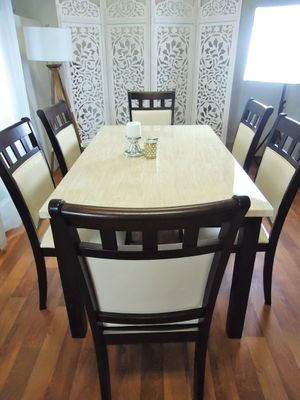 Dining table set Marble table 6 chairs for Sale in Baltimore, MD