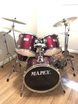 Mapex 5 Piece Drum Set w/ Sabian Cymbals and Stands Included for Sale in Seattle, WA