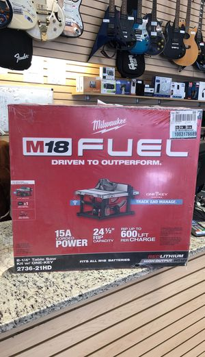 "Milwaukee 8-1/4"" Table Saw Kit w/ One-key for Sale in Medford, MA"