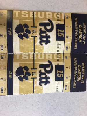 Pitt basketball vs Clemson Saturday January 24 for Sale in Pittsburgh, PA