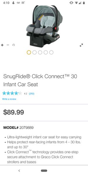 Greco SnugRide 30 baby car seat for Sale in Lawton, OK