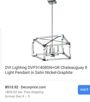 Chateauguay 8 light pendant chandelier for Sale in Lakewood Township, NJ