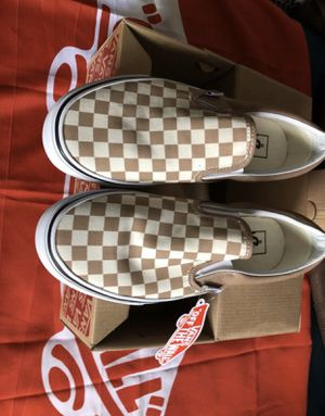 🍞 Checkerboard Size 5 6 11 Men Vans Slip on Shoes New in the Box with tags for Sale in Apple Valley, CA