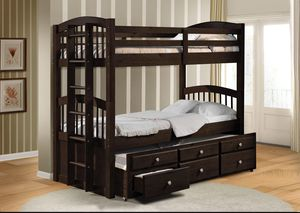 Twin/twin bunk bed with trundle for Sale in Phoenix, AZ
