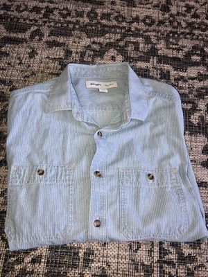 Blue Button Up Dress Shirt - Large for Sale in Baton Rouge, LA