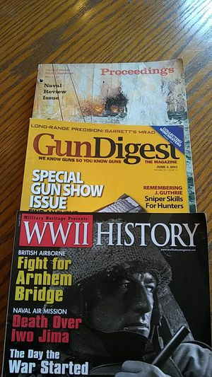Proceedings Naval Review Issue, WWII History, Gun Digest for Sale in Hoquiam, WA