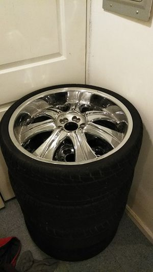 22 inch rims and tires for Sale in UNIVERSITY PA, MD