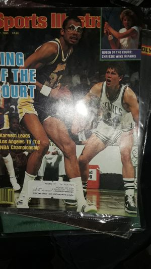 Sports illustrated from june 17 1985 featuring the captain and NBA all time scoring leader Kareem Abdul jabbar for Sale in Portland, OR