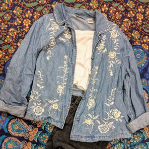 Vintage Beaded Jean Jacket for Sale in Norco, CA