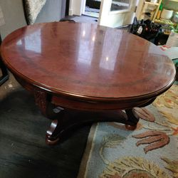 Round Coffee Table. Solid Wood, Durable Finish. Restored Joints. for Sale in Portland,  OR