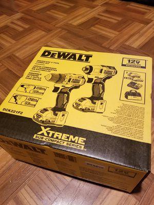Dewalt Combo kit Drill and Impact Driver Brushless 12v for Sale in Norwalk, CA