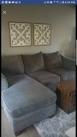 Sofa with reversible chaise for Sale in Irwin,  PA
