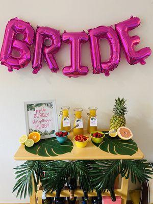 Tropical Bridal Shower Decor / Bridal Jeopardy Board for Sale in Portland, OR