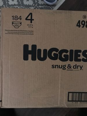 Brand new in the box size 4 184 Huggies diapers for Sale in Deal, NJ