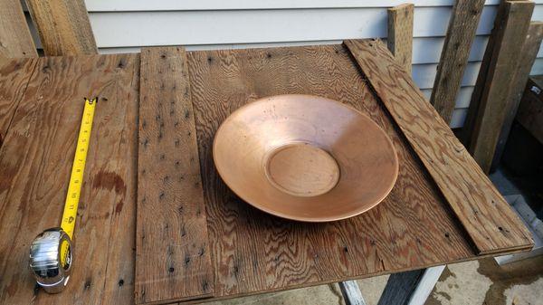 Copper gold pan