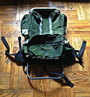 Forest Green Vintage Jansport External Frame 6 Pocket Hiking Backpack for Sale in Brooklyn, NY