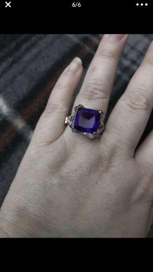 Nice sliver plated vintage purple stone ring for Sale in San Bernardino, CA