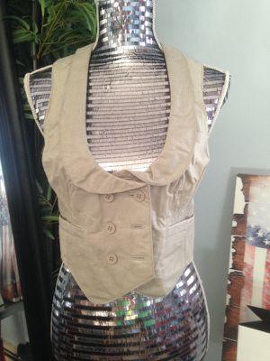 Light Grey leather vest - size Medium for Sale in Boston, MA