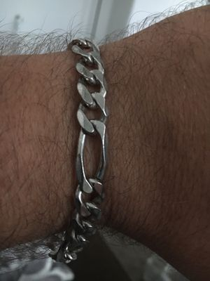 Gorgeous sterling silver fits any wrist bracelet for Sale in Burlington, NJ