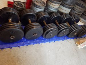 HEAVY HITTERS DUMBBELLS WEIGHTS SET for Sale in Chula Vista, CA