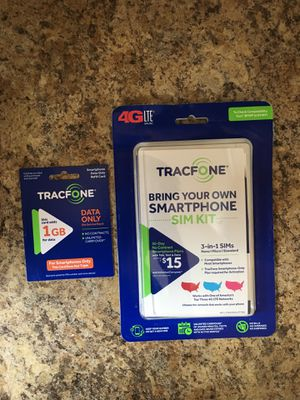 Tracfone Byod kit and data Card for Sale in Wenatchee, WA