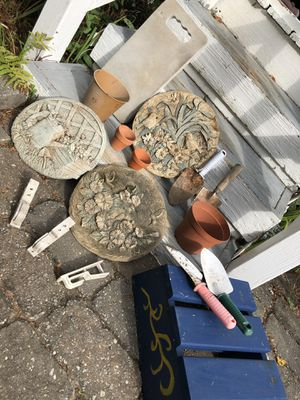 Gardening Lot-Stepping Stones/Hand Shovels/Pots for Sale in Doylestown, PA