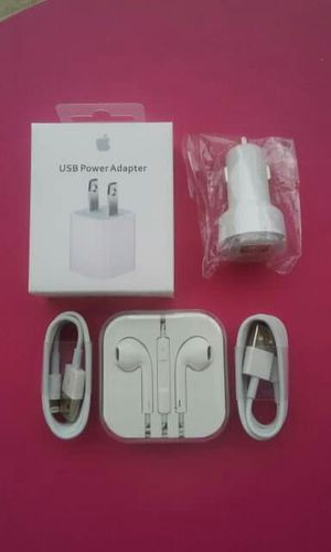 Apple Combo Bundle/Brand New Original Apple IPhone Charger and Car Charger and Headphones for Sale in Lincoln Acres, CA