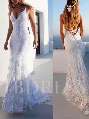 Spaghetti Strap Mermaid Wedding dress for Sale in Kingsport, TN