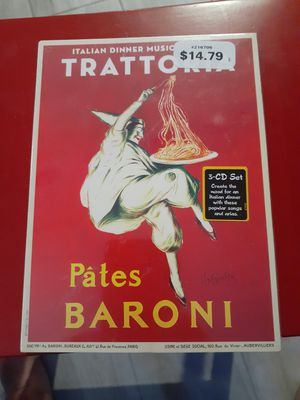 Unopened 3 CD Set of Italian Dinner Music for Sale in Palm Beach Shores, FL