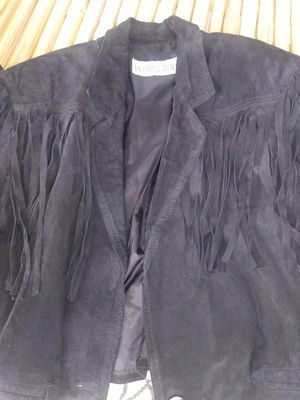 Women Leather jacket with fringe for Sale in Delray Beach, FL