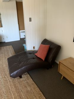 Dark Brown Modern Leather Sofa and Chaise Lounge for Sale in Provo,  UT