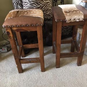 2 Old West Style Barstools for Sale in Fort Worth, TX