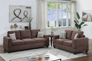 2 PCS Lucerne Sofa and Loveseat set- available in 3 colors $679.00. Hot buy! In stock! Free delivery delivery for Sale in Ontario, CA