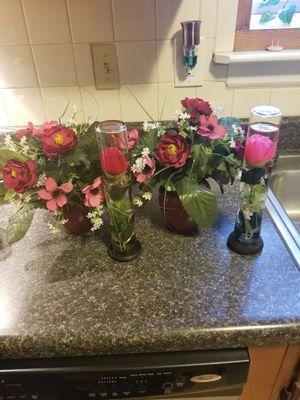 Glass floral vase sets for Sale in Newport News, VA