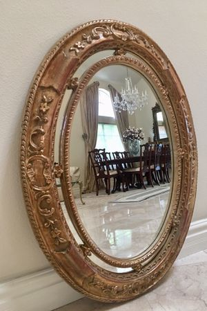 Gorgeous 44x34 detailed oval mirror for Sale in Laguna Niguel, CA