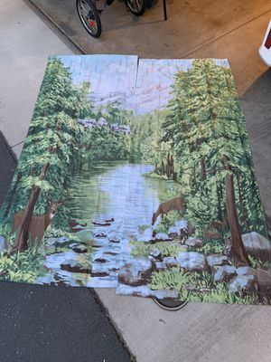 PRICE DROP!! Nature curtains for Sale in Riverside, CA