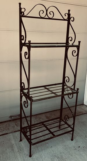 Vintage Wrought Iron Bakers rack for Sale in Littleton, CO