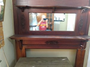 1900 fireplace mantel and mirror it is also 6 ft 9 in tall by 5ft wide for Sale in Swansea, IL