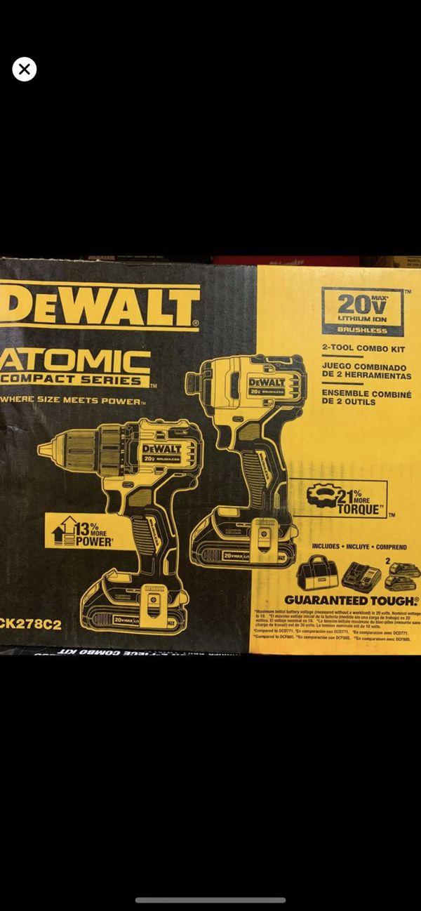 DeWALT brushless drill set 20v